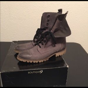 Boutique 9 Genuine Leather Distressed Boots